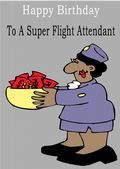 Flight Attendant - Greeting Card